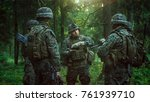 squad leader discusses military ... | Shutterstock . vector #761939710
