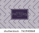 abstract geometric vector... | Shutterstock .eps vector #761940868