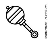 rattle vector outline icon | Shutterstock .eps vector #761941294