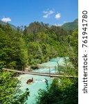 the river soca in slovenia | Shutterstock . vector #761941780