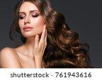 beautiful hair woman beauty...   Shutterstock . vector #761943616