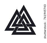 valknut. interwoven triangles.... | Shutterstock .eps vector #761945743