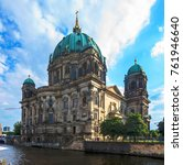 the berlin dom  cathedral .... | Shutterstock . vector #761946640