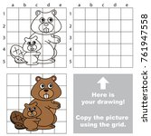 copy the picture using grid...   Shutterstock .eps vector #761947558