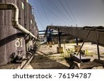 some containers  transportation ...   Shutterstock . vector #76194787