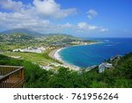 frigate bay beach in st kitts ... | Shutterstock . vector #761956264