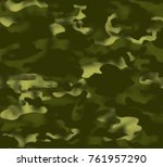 camouflage pattern background... | Shutterstock .eps vector #761957290