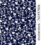 trendy seamless floral pattern... | Shutterstock .eps vector #761957806