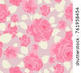 seamless floral pattern in... | Shutterstock .eps vector #761958454