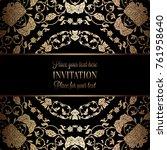 vintage baroque wedding... | Shutterstock .eps vector #761958640