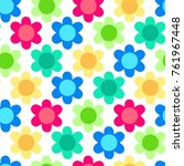 seamless pattern. colorful... | Shutterstock .eps vector #761967448