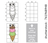 copy the picture using grid... | Shutterstock .eps vector #761968948