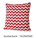 soft patterned pillow  isolated ... | Shutterstock . vector #761969500