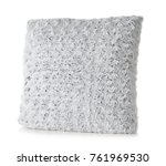 soft plush pillow  isolated on... | Shutterstock . vector #761969530