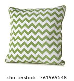 soft patterned pillow  isolated ... | Shutterstock . vector #761969548