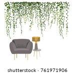 interior design vector... | Shutterstock .eps vector #761971906