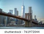 lower manhattan panoramic... | Shutterstock . vector #761972044
