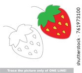 strawberry to be traced only of ... | Shutterstock .eps vector #761973100