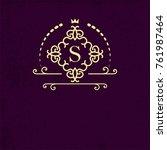 elegant monogram the store ... | Shutterstock . vector #761987464