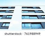 modern apartment buildings on a ... | Shutterstock . vector #761988949