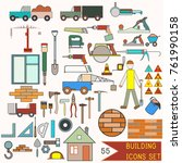 collection of building icons.... | Shutterstock .eps vector #761990158