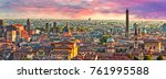 aerial panoramic cityscape of... | Shutterstock . vector #761995588
