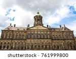 clock tower of the royal palace ... | Shutterstock . vector #761999800
