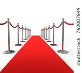 red carpet background with... | Shutterstock . vector #762007849