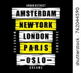 amsterdam  new york  london ...   Shutterstock .eps vector #762044590