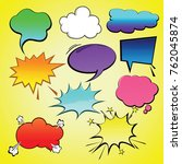 comic speech bubble element  | Shutterstock .eps vector #762045874