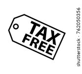 thin line tax free label icon | Shutterstock .eps vector #762050356
