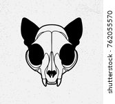 cat's skull black | Shutterstock .eps vector #762055570