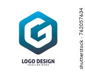 hexagon letter g logo design | Shutterstock .eps vector #762057634
