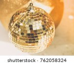 Golden Christmas Ball In Merry...
