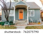 small  old urban home... | Shutterstock . vector #762075790