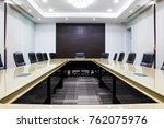 concept modern meeting room... | Shutterstock . vector #762075976