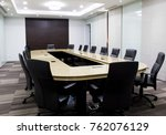 modern meeting room with table... | Shutterstock . vector #762076129