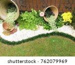 modern garden design   Shutterstock . vector #762079969