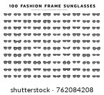 sunglasses vector icon set | Shutterstock .eps vector #762084208