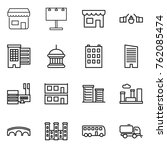 thin line icon set   shop ... | Shutterstock .eps vector #762085474