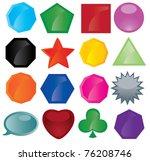vector set of button icons | Shutterstock .eps vector #76208746