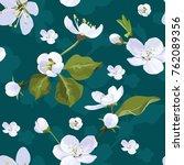 apple blossom vector seamless...   Shutterstock .eps vector #762089356