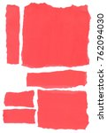 torn piece of red paper for... | Shutterstock . vector #762094030