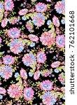 watercolor flower pattern...   Shutterstock . vector #762101668