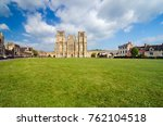 wells cathedral and lawn ... | Shutterstock . vector #762104518