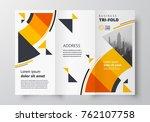 tri fold business brochure... | Shutterstock .eps vector #762107758