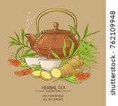 ginger tea vector illustration... | Shutterstock .eps vector #762109948