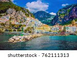 wonderful italy. the small... | Shutterstock . vector #762111313