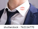 close up of a businessman with... | Shutterstock . vector #762116770