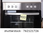close up of a oven with sticky... | Shutterstock . vector #762121726